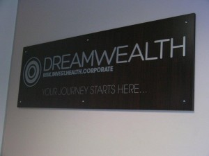 Sign manufactured for Dream Wealth, Berea