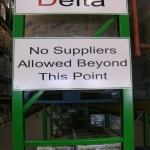 Notification Signs at the Spar Distribution Centre