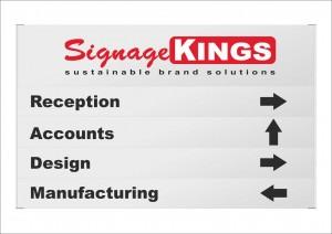 Aluminium Directional Signs
